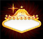 Vector vegas casino sign. Gold casino sign, vector illustration Royalty Free Stock Images