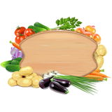 Vector Vegetable Board Royalty Free Stock Photography