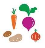 Vector vegetable - carrot, potato, onion, beet Stock Image