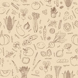 Vector vegetables background. Seamless vegetables pattern. Vector vegetables pattern. Vegetables seamless background. Seamless vegetables pattern. Useful for Royalty Free Stock Photos