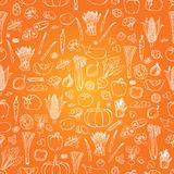 Vector vegetables pattern. Vegetables seamless background. Royalty Free Stock Image