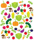 Vector vegetables pattern Royalty Free Stock Images