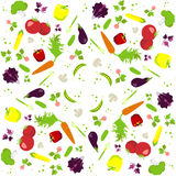 Vector vegetables pattern Royalty Free Stock Photos