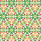 Vector vegetables seamless pattern  in flat style with pattern  Stock Photography