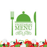 Vector vegetarian menu Stock Image