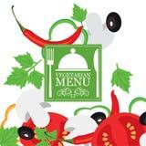 Vector vegetarian menu Royalty Free Stock Photo