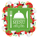 Vector vegetarian menu. Vector silhouette, Vector vegetarian menu Stock Photo