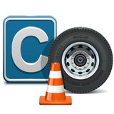 Vector Vehicle Category C. On white background royalty free illustration