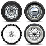 Vector Vehicle Wheels Royalty Free Stock Photos