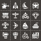 Vector Vehicles icon set Royalty Free Stock Photography