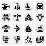 Vector Vehicles icon set Stock Photos