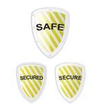 Vector Veilig Veilig Schild royalty-vrije illustratie