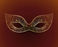 Venetian carnival mask with floral pattern. Vector venetian carnival mask with floral pattern Royalty Free Stock Photography