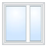 Vector vensterillustratie Royalty-vrije Stock Afbeelding