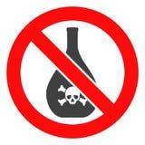 Vector Verboden Chemische productenpictogram stock illustratie