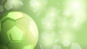 Vector verde abstracto del fondo del fútbol Foto de archivo libre de regalías