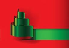 Vector verde cortado papel rojo del diseño del árbol de navidad Imagen de archivo