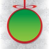 Vector verde de la bola de la Navidad Imágenes de archivo libres de regalías
