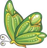 Vector verde de la historieta de la mariposa Fotos de archivo libres de regalías