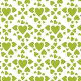 Vector verde de los corazones del modelo stock de ilustración