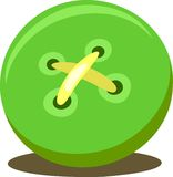 Vector verde del botón Imágenes de archivo libres de regalías
