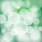 Vector verde del fondo de Bokeh stock de ilustración