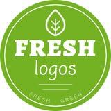 Vector verde del logotipo del círculo de la hoja fotografía de archivo