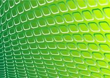 Vector verde del metal 3d Fotografía de archivo
