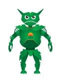 Vector verde del robot Foto de archivo libre de regalías