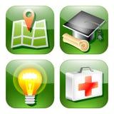 Vector verde del web del icono de la muestra Fotos de archivo libres de regalías
