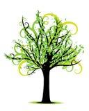 Vector del árbol de la primavera Imagen de archivo libre de regalías