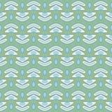 Vector verde inconsútil del modelo de la raspa de arenque Imagen de archivo libre de regalías