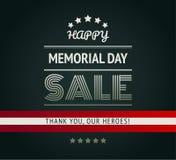 Vector verde militar del fondo de la venta feliz de Memorial Day ilustración del vector