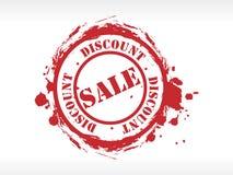 Vector verkoop rubberzegel Stock Foto's