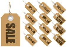 Vector verkoopetiketten Stock Foto