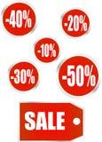 Vector verkooppictogrammen Royalty-vrije Stock Afbeeldingen