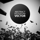 Vector Verpletterd Element Stock Afbeelding