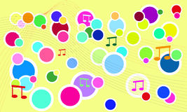 Vector verse muziekachtergrond Stock Foto