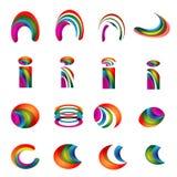 Vector versie 2 van de Ontwerpen van het alfabet trillende embleem Royalty-vrije Stock Fotografie