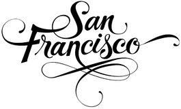 San Francisco. Vector version of my own calligraphy Royalty Free Stock Images
