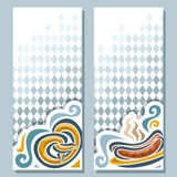 Vector vertical banner for Oktoberfest menu vector illustration