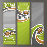 Vector Vertical Banners for American Football Stock Photography