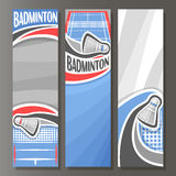 Vector Vertical Banners for Badminton Royalty Free Stock Photo