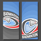 Vector vertical Banners for Badminton Stock Photography