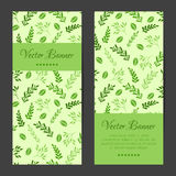Vector vertical banners, cards, brochures set Royalty Free Stock Images