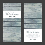 Vector vertical banners, cards set. Wood planks Stock Photo