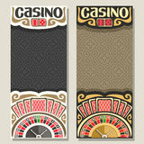 Vector vertical banners for Casino stock illustration