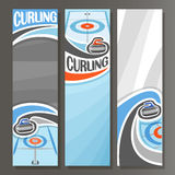 Vector Vertical Banners for Curling vector illustration