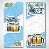 Vector vertical banners oktoberfest for text vector illustration