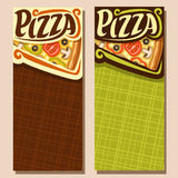 Vector vertical banners for Pizza Royalty Free Stock Photography